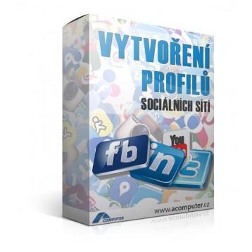 Vytvoření profilů sociálních sítí