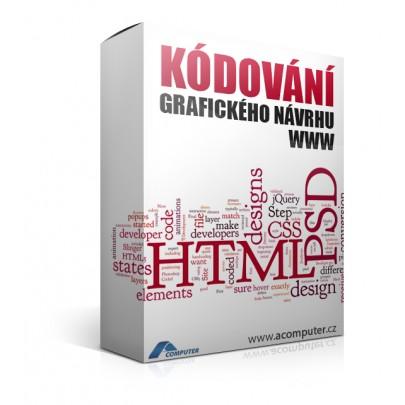 Implementace grafického návrhu do šablony www prezentace