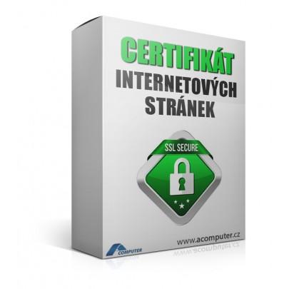 Certifikát internetových stránek