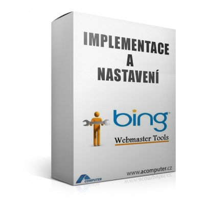 Implementace a nastavení Bing Webmastertools