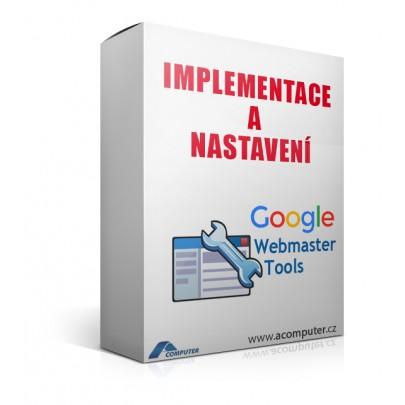 Implementace a nastavení Google Webmastertools